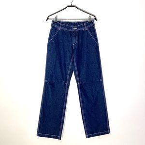 Brandy Melville J Galt Straight Leg Dark Jeans